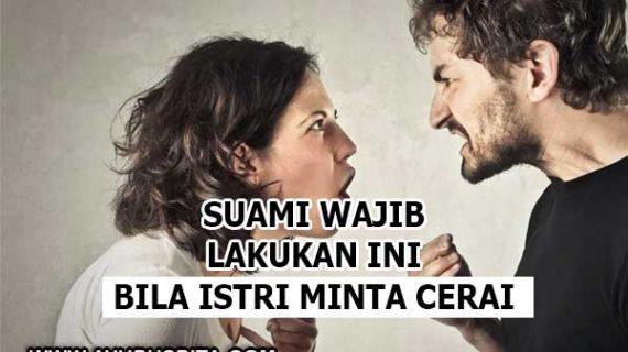 Bila Istri Minta Cerai, Ini yang Wajib Suami Lakukan!